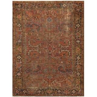 Handmade One-of-a-Kind Antique 1920's Heriz Wool Rug (Iran) - 7'2 x 9'7