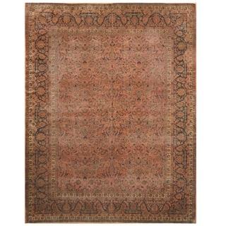 Handmade Antique 1920's Kashan Wool Rug (8'9 x 11'5) - 8'9 x 11'5
