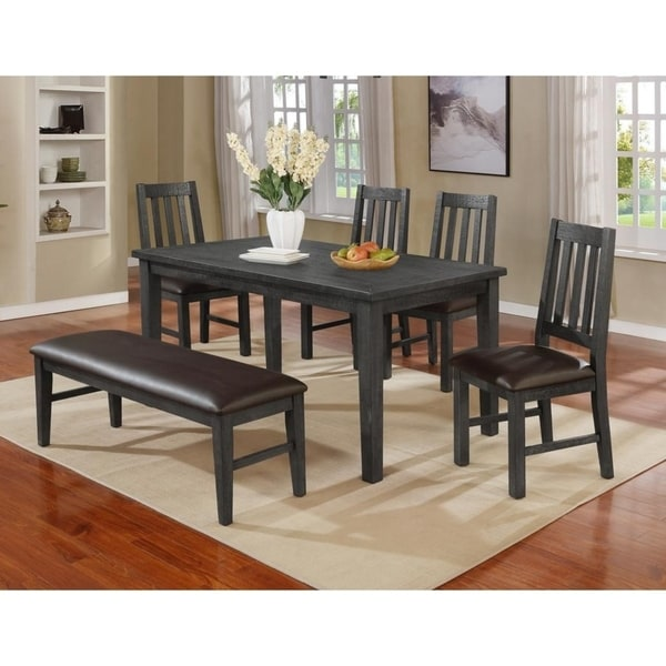Best Master Furniture 6 Pieces Dining Set with Bench