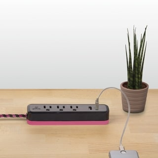 Link to Designer Series 6-ft 3-Outlet 2 USB Surge Protector Power Strip Similar Items in Cables & Connectors