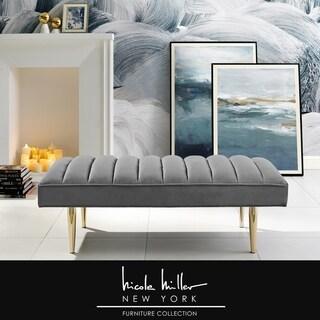 Link to Darwin Velvet Bench Channel Tufted Similar Items in Living Room Furniture