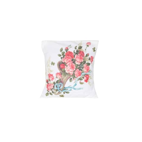 Homedora Pillow Covers for Home Decor, Set of 2, Flowers in the Vase