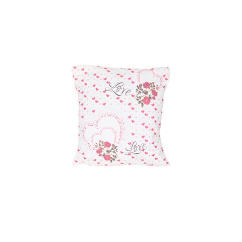 Homedora Pillow Covers for Home Decor, Set of 2, Small Hearts