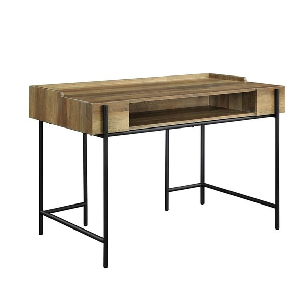 William's Home Furnishing Maeve Writing Desk In Sand Black Finish