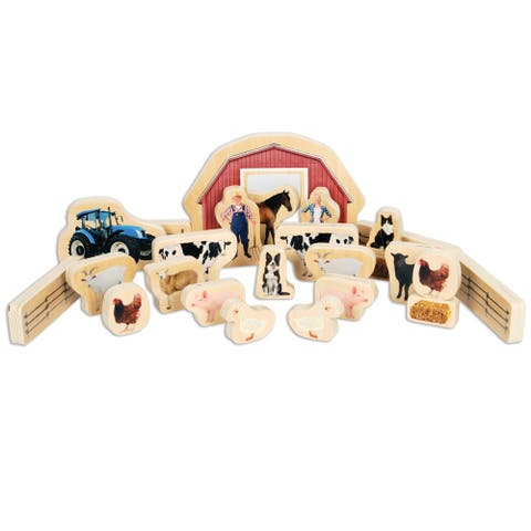 TickiT® Wooden Farm Blocks Play Set