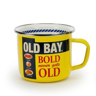 Golden Rabbit Old Bay Enamelware Grande Mugs (Pack of 4)