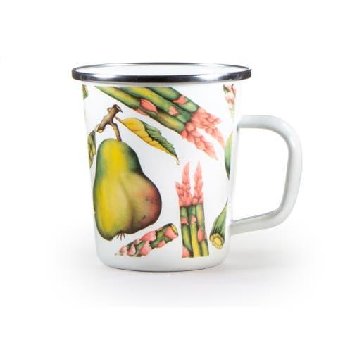 Golden Rabbit Fresh Produce Enamelware Latte Mugs (Pack of 4)
