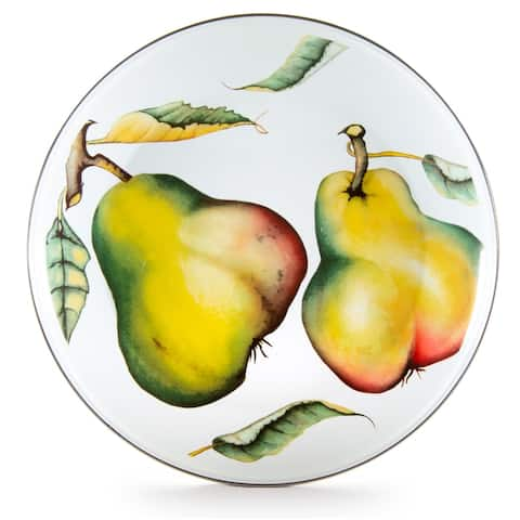 Golden Rabbit Fresh Produce Enamelware Chargers (Pack of 2)