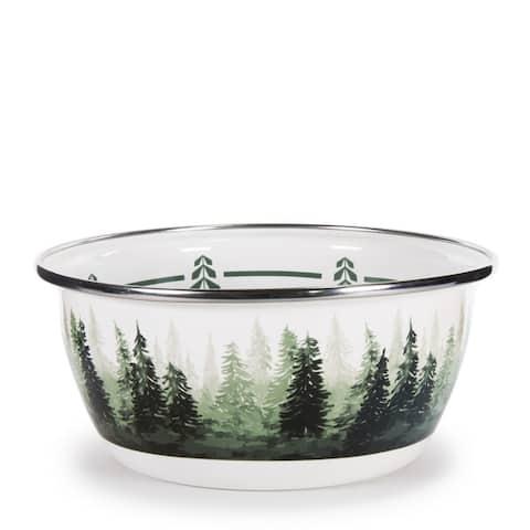 Golden Rabbit Forest Glen Enamelware Salad Bowls (Pack of 4)
