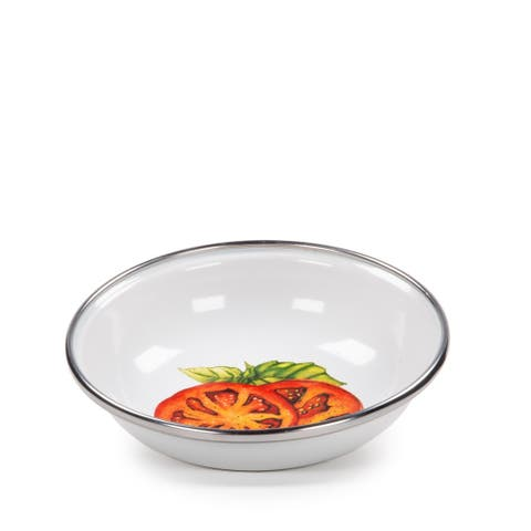 Golden Rabbit Tomatoes Enamelware Tasting Dishes (Pack of 6)