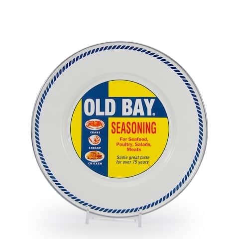 Golden Rabbit Old Bay Enamelware Sandwich Plates (Pack of 4)