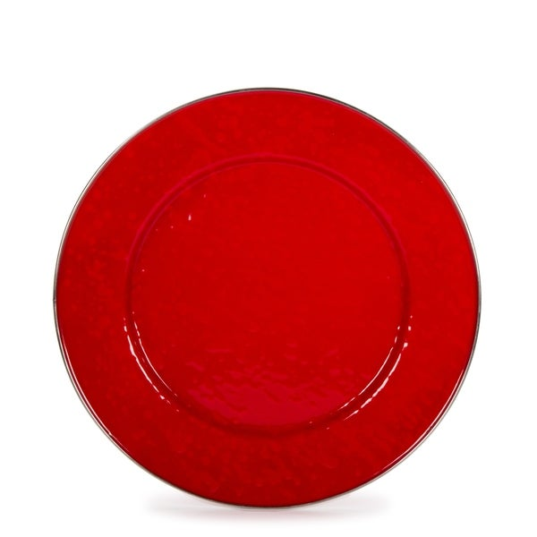 Golden Rabbit Solid Red Enamelware Dinner Plates (Pack of 4) (As Is Item). Opens flyout.