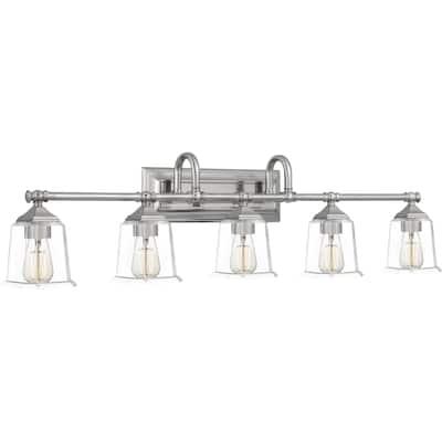 Copper Grove Soctra 5-light Silvertone Bath Light