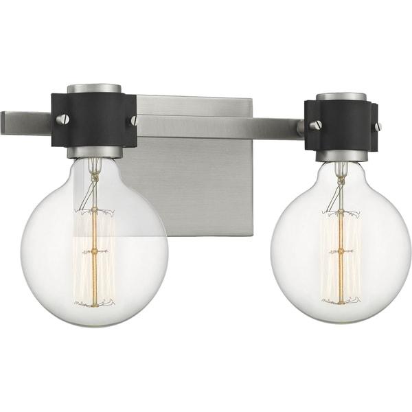 Quoizel Curie Antique Nickel 2-light Bath Light. Opens flyout.