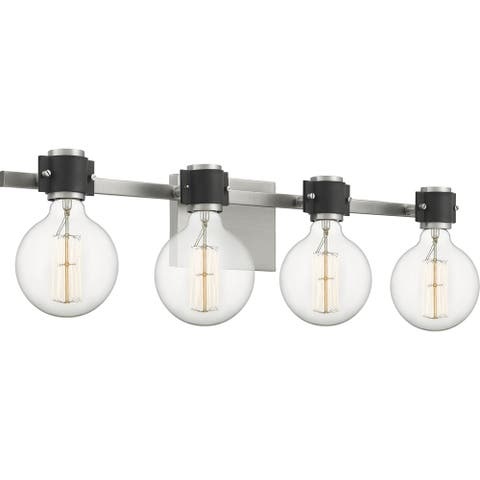 Quoizel Curie Antique Nickel 4-light Bath Light