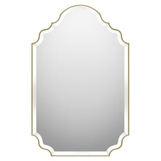 Quoizel Camille Gold Beveled Glass Mirror