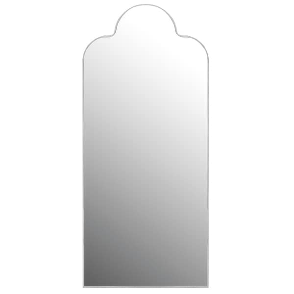 Quoizel Brooker Silver Arched Crown Top Mirror