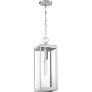 Link to Okaba Clear Beveled Outdoor Hanging Light by Havenside Home Similar Items in Outdoor Ceiling Lights