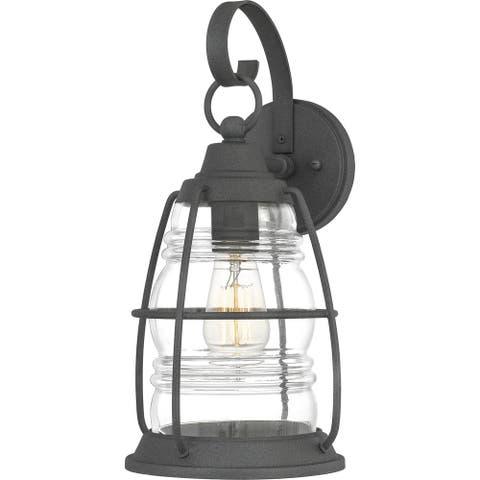 Quoizel Admiral Mottled Black Medium 1-light Outdoor Wall Lantern