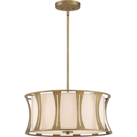 Quoizel Woodmere Egyptian Gold 4-light Pendant