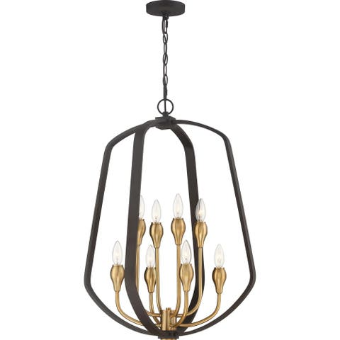 Quoizel Kinkade Western Bronze 8-light Foyer Pendant
