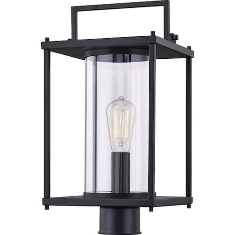 Wasir Matte Black 1-light Outdoor Post Light by Havenside Home