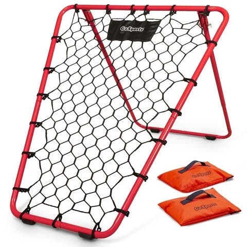 GoSports Basketball Rebounder with Adjustable Frame, Rubber Grip Feet and Sandbags