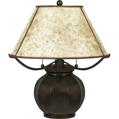 Quoizel Mica Valiant Bronze 2-light Table Lamp