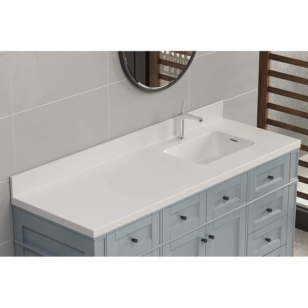 True Solid Surface Vanity Counter Top Overstock 30642655