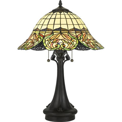 Copper Grove Sirdaryo 2-light Tiffany-style Vintage Bronze Table Lamp