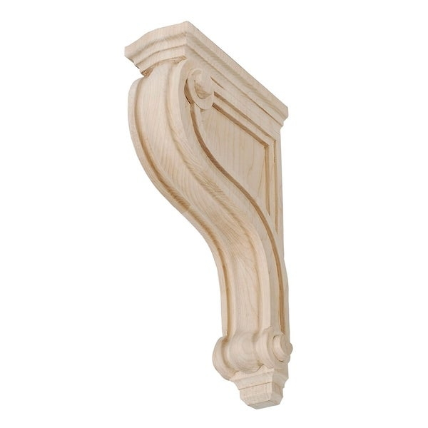 12-3/8 in. x 2-7/8 in. x 7-3/8 in. Unfinished North American Solid Hard Maple Classic Traditional Plain Wood Corbel
