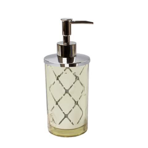 Olivia Quido Wellington Gold Lotion/Soap Dispenser - Chrome/Silver
