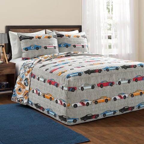 Lush Decor Race Cars Bedspread Set