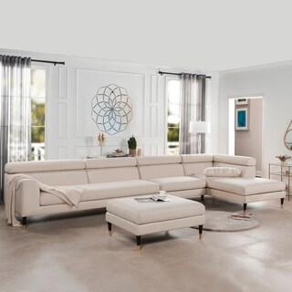 "Bartelt RAF Modular Modern Sectional Chaise Sofa by Sandy Wilson Home - 169""W x 73""D x 34""H"