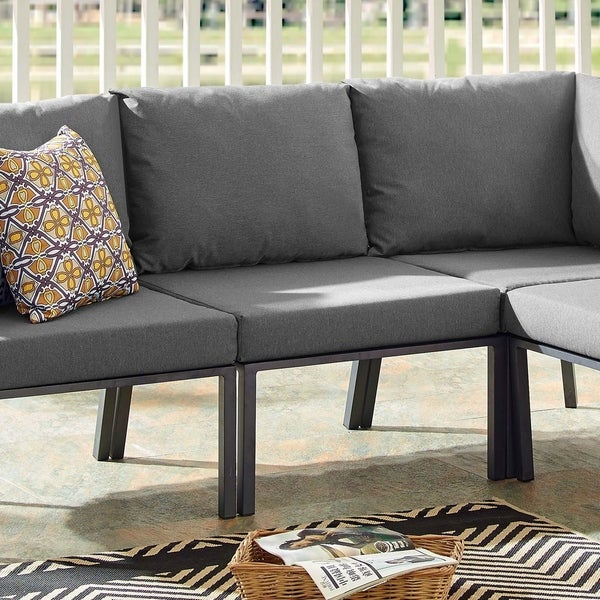 Shop Riverside Outdoor Patio Aluminum Armless Chair - Free ...