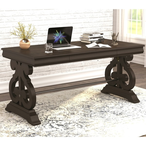Moderen Ornate Design Home Office Computer Writing Desk with Drawer