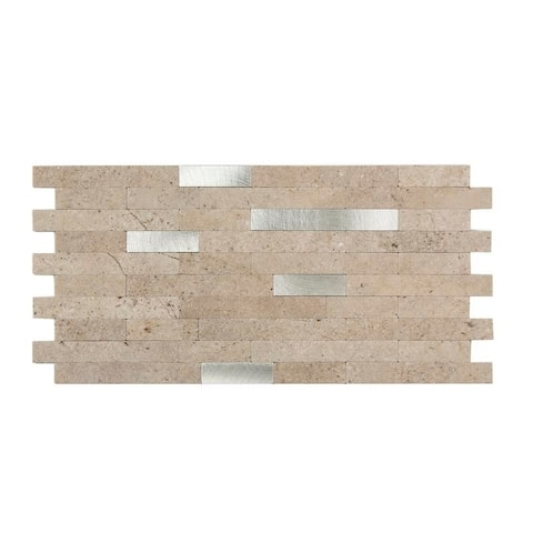Aspect Peel & Stick Collage Tile in Biscuit