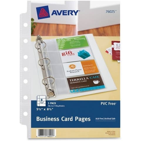 Avery Business Card Pages 2x3 12 8 CardsSheet 5 PagesPack