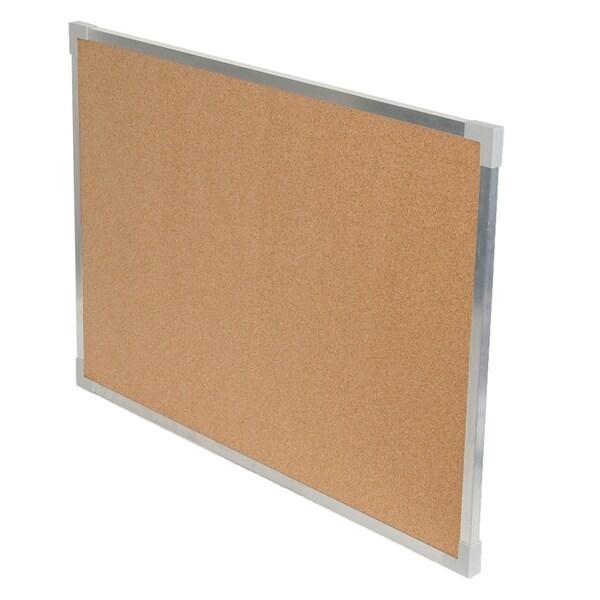 "Flipside® Aluminum Framed Cork Board, 24"" x 36"""
