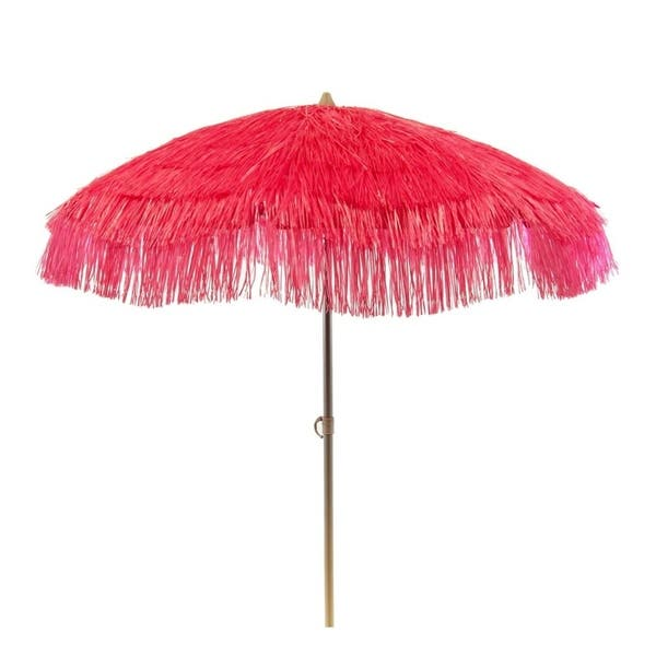 Tropical Pink Palapa Patio Umbrella