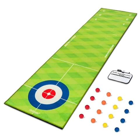 GoSports Pure Putt Challenge Curling & Shuffleboard 2-in-1 Putting Game