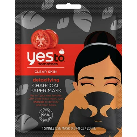 Yes to Tomatoes Clear Skin Detoxifying Charcoal Paper Mask, 1 Single Use Mask
