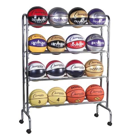 Champion Sports Ball Cart, 4 Tier, Holds 16 Balls