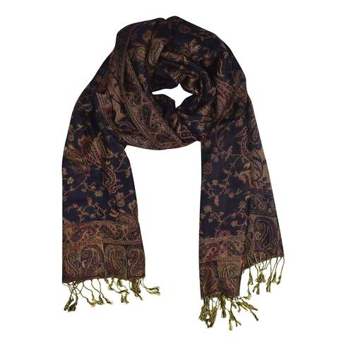 Elegant Reversible Paisley Pashmina Shawl Wrap