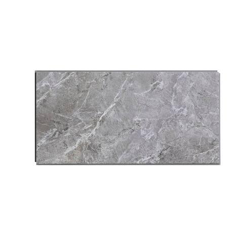 Dumawall 11.2 in. x 21.9 in. Vinyl Interlocking Waterproof Light Gray Slate Wall Tile/Backsplash (10 Pack)