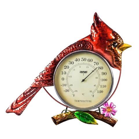 Cardinal Metal Indoor/Outdoor Wall Thermometer