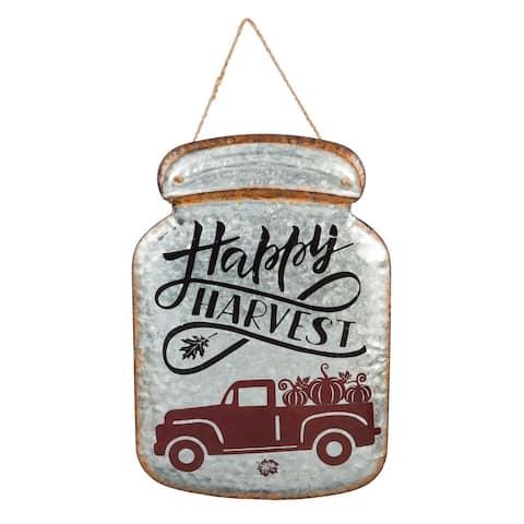 Happy Harvest Mason Jar Metal Wall Décor