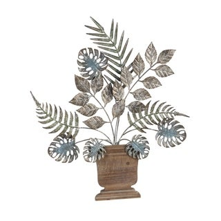 Plant Assortment Metal and Wood Wall Décor