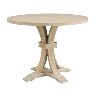 Siena White-washed Finished Round Pedestal Counter Height Dining Table