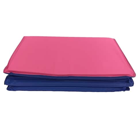 "KinderMat® Toddler, No Pillow, 3/4"" Thick, Blue/Pink"